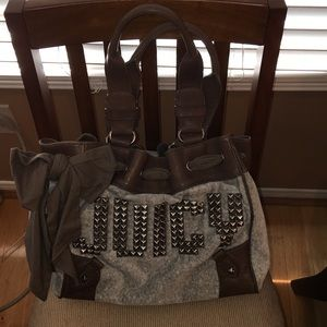 Juicy couture grey studded daydreamer tote bag 💼